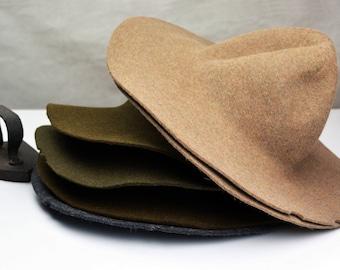 Flecked Rabbit Fur Felt Hat Bodies - Cappellines