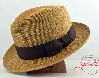 bbf35961 Milan Straw Fedora | The MILANESE | Fine Milan Straw Summer Fedora Hat For  Men | Summer Hats