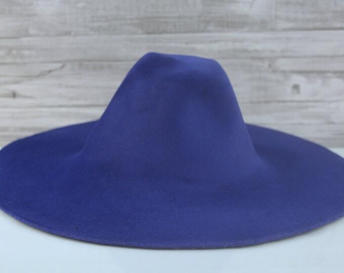 Royal Blue   Velour   Rabbit Fur Felt Hat Bodies   Capelines