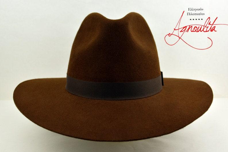 Wide Brim Fedora The COACH Brown Fur Felt Wide Brim Hat  83013ed7d8f