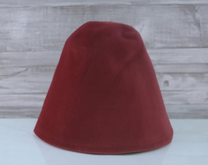 Ruby Red | Velour | Rabbit Fur Felt Hat Bodies | Cones
