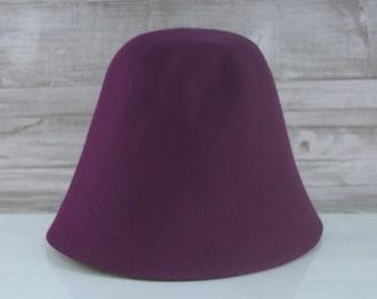 Jewel Purple | Rabbit Fur Felt Cones | Hat Bodies
