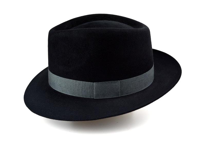 The COOPER Mens Fedora Hats Fedora Black Fedora Hat For Men Mens Fur Felt Hat