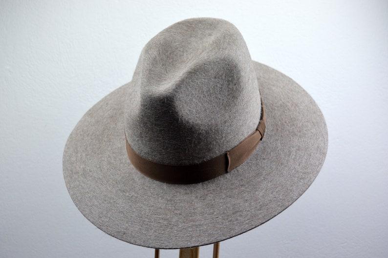 dc992484741 Wide Brim Fedora The MOKADOR Beige Wide Brim Hat Men Women