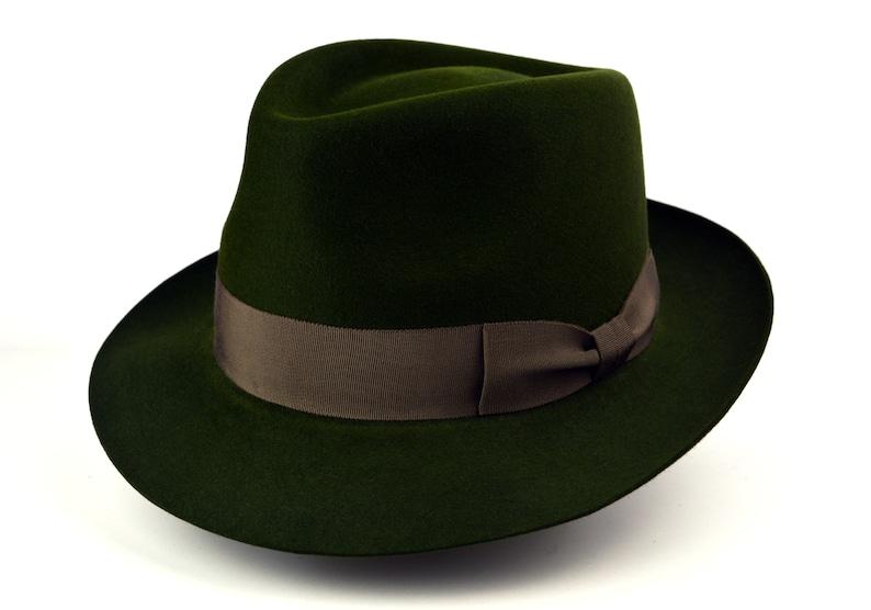 e9f4b346c Fedora | The HUNTER | Loden Green Fedora Hat For Men | Mens Fedora Hats |  Mens Fur Felt Hat