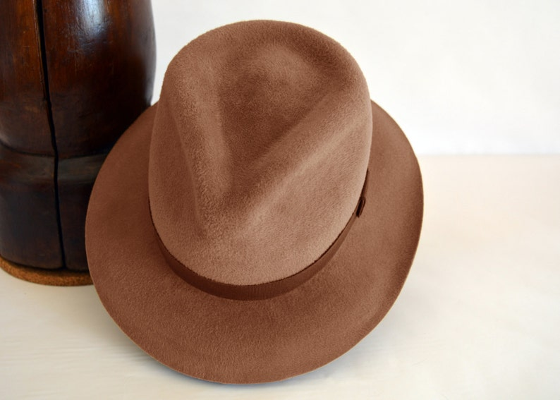e84d7280264d5 Womens Fedora The MODER Taupe Camel Fedora Hat For Women