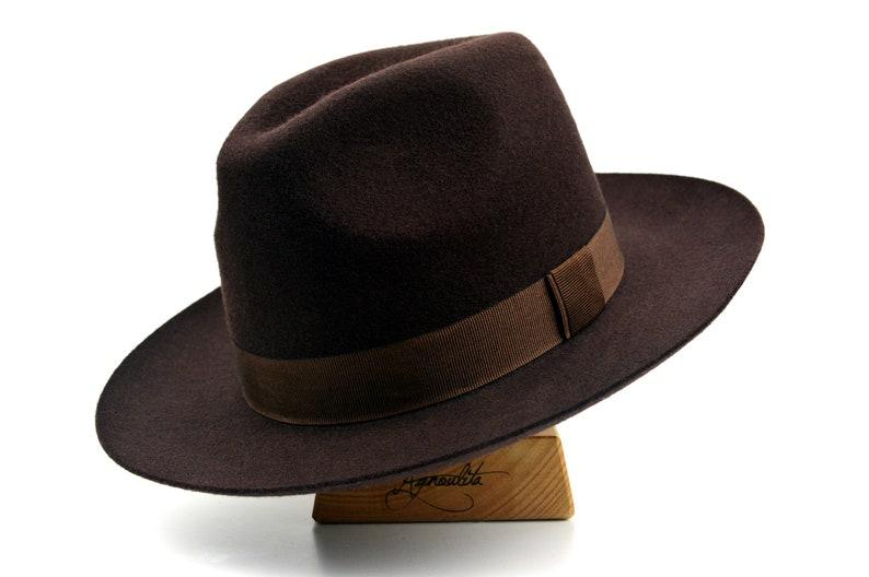 651d75923 Fedora | The WESTERNER | Chocolate Brown Wide Brim Hat Men | Fedora Hat For  Men | Mens Felt Hat