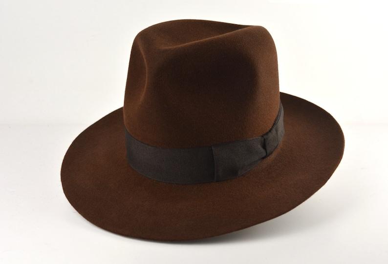 Men's Vintage Style Hats, Retro Hats Fedora | The RAIDER | Brown Wide Brim Hat Men | Fedora Hat For Men | Mens Fur Felt Hat $200.54 AT vintagedancer.com