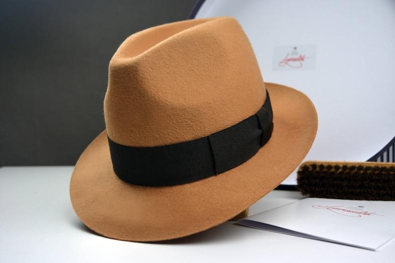 Fedora The URBANER Camel Wool Felt Fedora Hat For Men  58098bc0b4c3