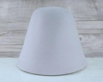 Light Grey | Rabbit Fur Felt Cones | Hat Bodies