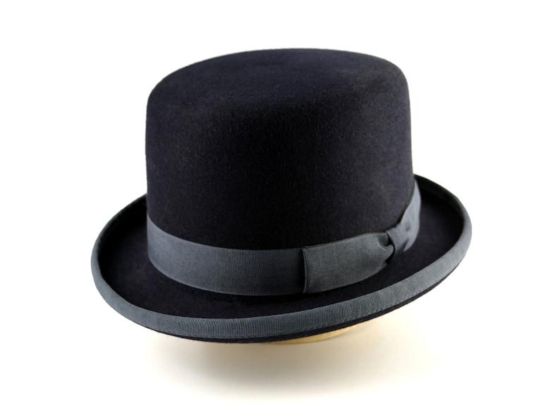 Steampunk Hats for Men | Top Hat, Bowler, Masks Bowler Hat | The ODDJOB | Denim Blue Fur Felt Bowler Hat For Men | Mens Formal Hats $209.96 AT vintagedancer.com