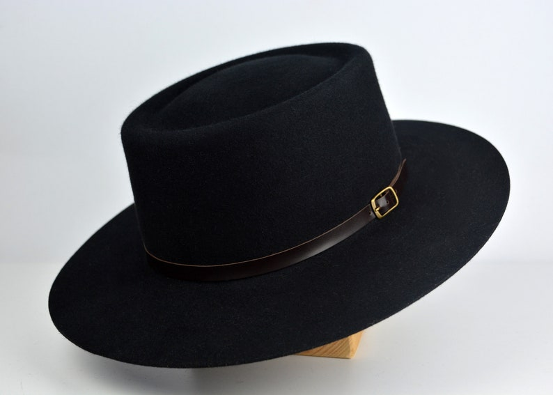 dab7d584e557e Bolero Hat The VOODOO Black Vaquero Crown Wide Brim Hat