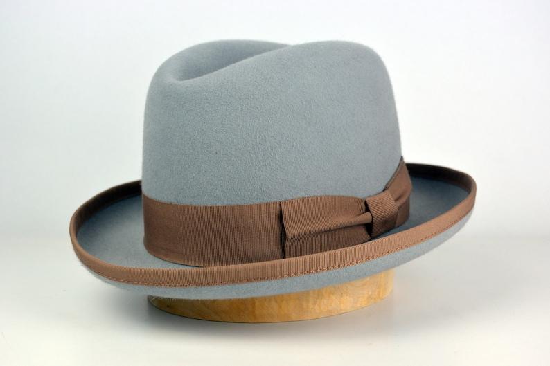 3a947eb7983ed Homburg Hat The EARL Light Grey Fedora Hat For Men Mens