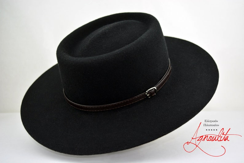 97b9c5a84d648 Bolero Hat The GAMBLER Black Wide Brim Hat Men Women
