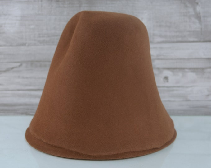 Cocoa Brown | Rabbit Fur Felt Cones | Hat Bodies