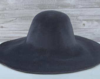 Charcoal | Velour | Rabbit Fur Felt Hat Bodies | Capelines