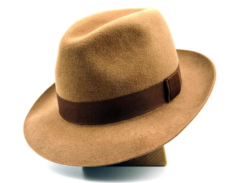 b6e139a8cd700 Womens Fedora The CARO Camel Fedora Hat For Women Fur