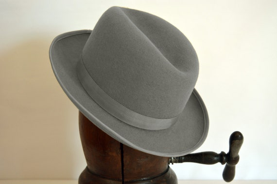 Homburg Hat The OPTMAN Light Grey Fedora Hat For Men  821cc072a67