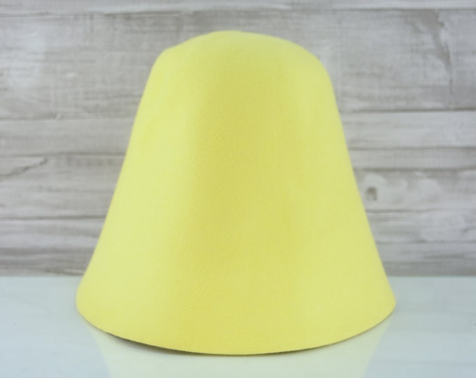 Lemon | Rabbit Fur Felt Cones | Hat Bodies