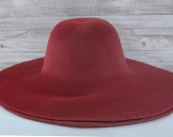 Ruby Red | Velour | Rabbit Fur Felt Hat Bodies | Capelines