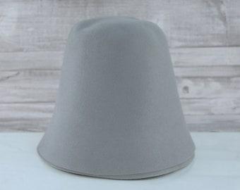 Pewter Grey | Rabbit Fur Felt Cones | Hat Bodies