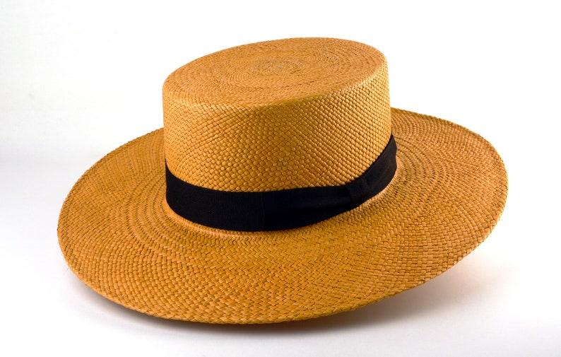 1940s Mens Hats | Fedora, Homburg, Pork Pie Hats Panama Hat | The TRIBECA | Biscuit Toquilla Straw Wide Brim Bolero Hat | Men Women | Summer Hats $178.05 AT vintagedancer.com