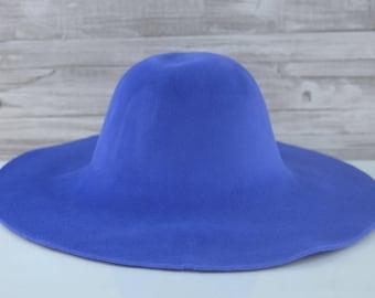 Blue | Velour | Rabbit Fur Felt Hat Bodies | Capelines