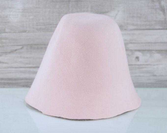 Baby Pink | Rabbit Fur Felt Cones | Hat Bodies