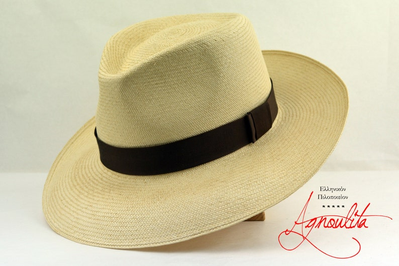 15c3459a4 Panama Hat | The PANAMERA | Montecristi Off-White Toquilla Straw Panama  Fedora Hat For Men | Summer Hats