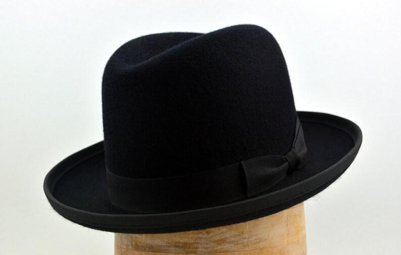 Homburg Hat The PREMIER Black Fedora Hat For Men  97f8d036ac37