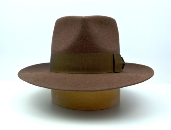 Fedora The SOVEREIGN Dark Taupe Wide Brim Hat Men Fedora  cdebb3e270dc