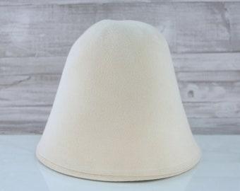 Creme | Velour | Rabbit Fur Felt Hat Bodies | Cones