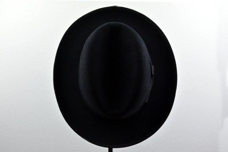 fcd488666a12 ... Homburg Hat The SIGNATURE Black Fedora Hat For Men Mens image ...