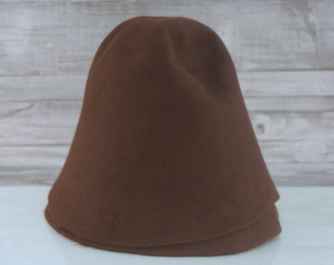 Sable Brown | Rabbit Fur Felt Cones | Hat Bodies