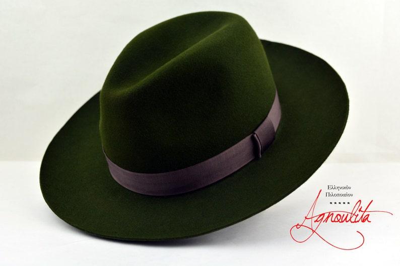 Fedora The RECONNOITER Loden Green Wide Brim Hat Men  355eeae42a76