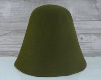 Loden Green | Rabbit Fur Felt Cones | Hat Bodies