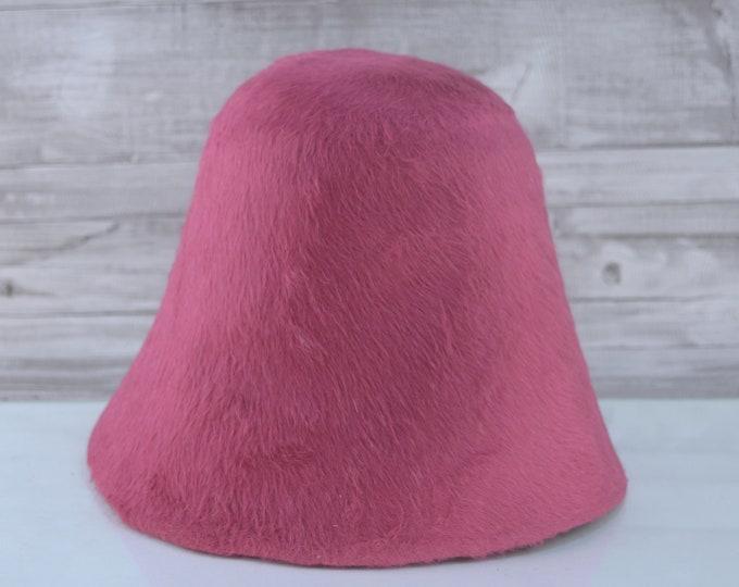 Carmine Pink | Long Hair | Rabbit Fur Felt Hat Bodies | Melusine Cones