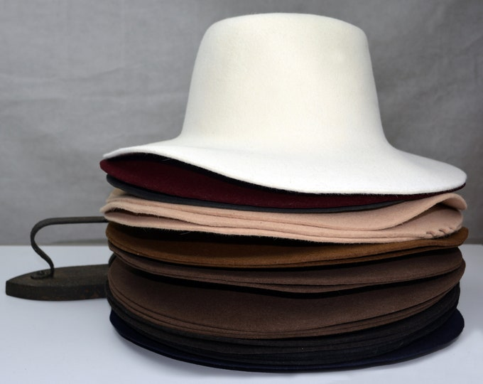 Wholesale | Rabbit Fur Felt Hat Bodies | Flares | Smooth Finish | Two Colors | Made to Order