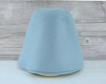 Riviera Blue | Rabbit Fur Felt Cones | Hat Bodies