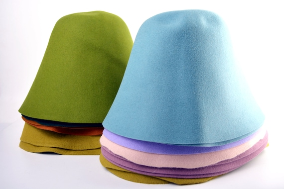 Rabbit Fur Felt Hat Bodies - Cones