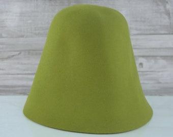 Lime Green | Rabbit Fur Felt Cones | Hat Bodies