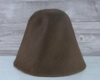 Chocolate Brown | Long Hair | Rabbit Fur Felt Hat Bodies | Melusine Cones