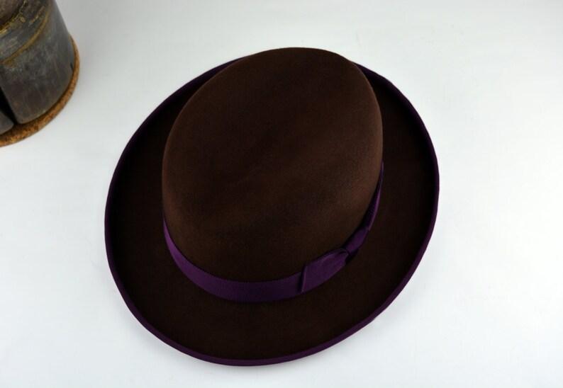 Homburg Hat The PIERRO Brown Fedora Hat For Men Mens  92afadc66f9c