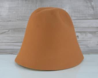 Burnt Orange | Rabbit Fur Felt Cones | Hat Bodies