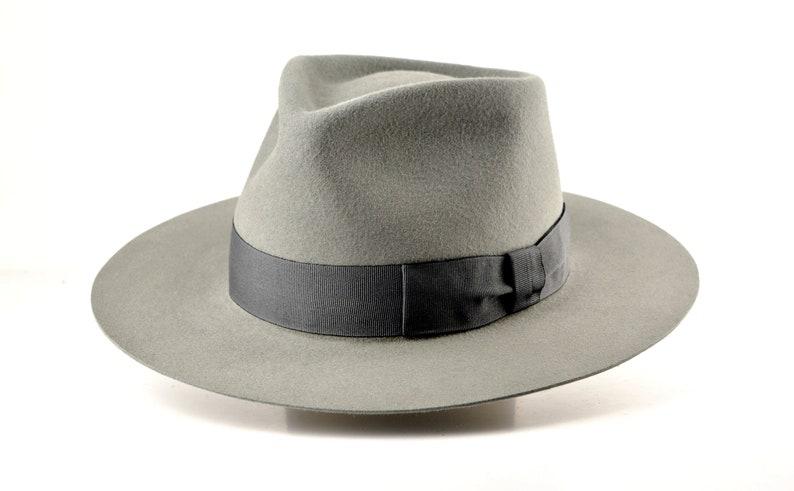 1940s Mens Hats | Fedora, Homburg, Pork Pie Hats Wide Brim Fedora | The DALI | Grey Wide Brim Hat Men Women | Fur Felt Hat For Women Men | Fedora Hat $209.96 AT vintagedancer.com