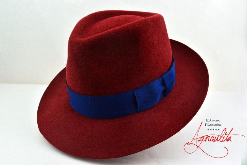 188c69727523f Womens Fedora The JULIA Crimson Red Fedora Hat For Women