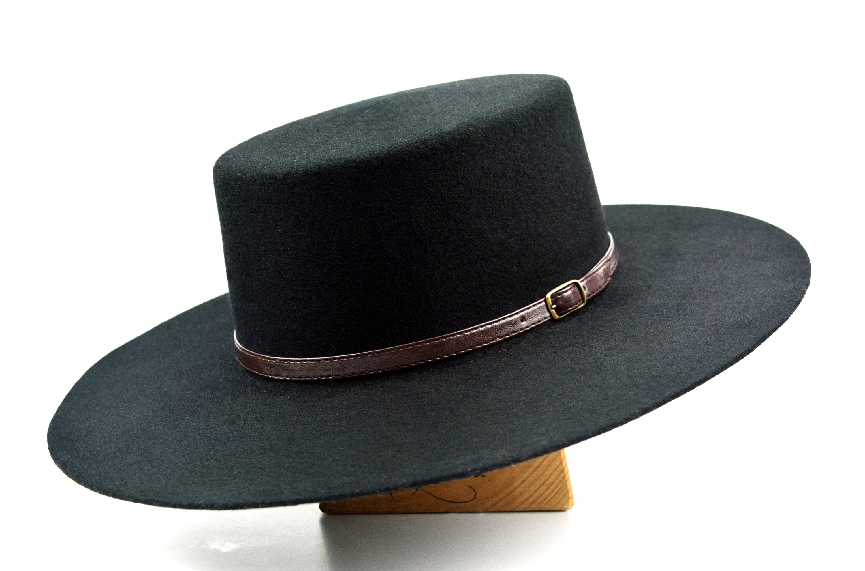b1a85a0d4 Bolero Hat | The GALLOPER | Black Wool Felt Flat Crown Wide Brim Hat Men  Women | Western hats