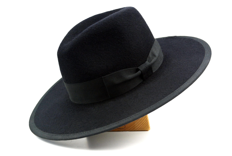 Wide Brim Fedora The JOCKO Black Wide Brim Hat Men Women  af26101100f
