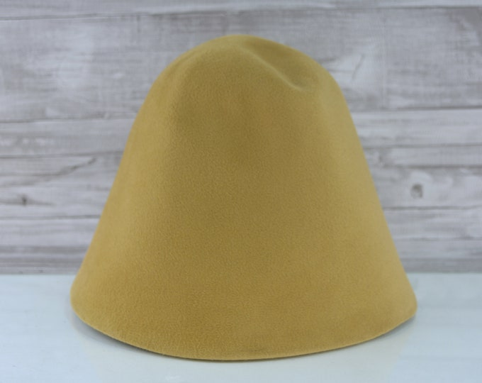 Goldenrod | Velour | Rabbit Fur Felt Hat Bodies | Cones