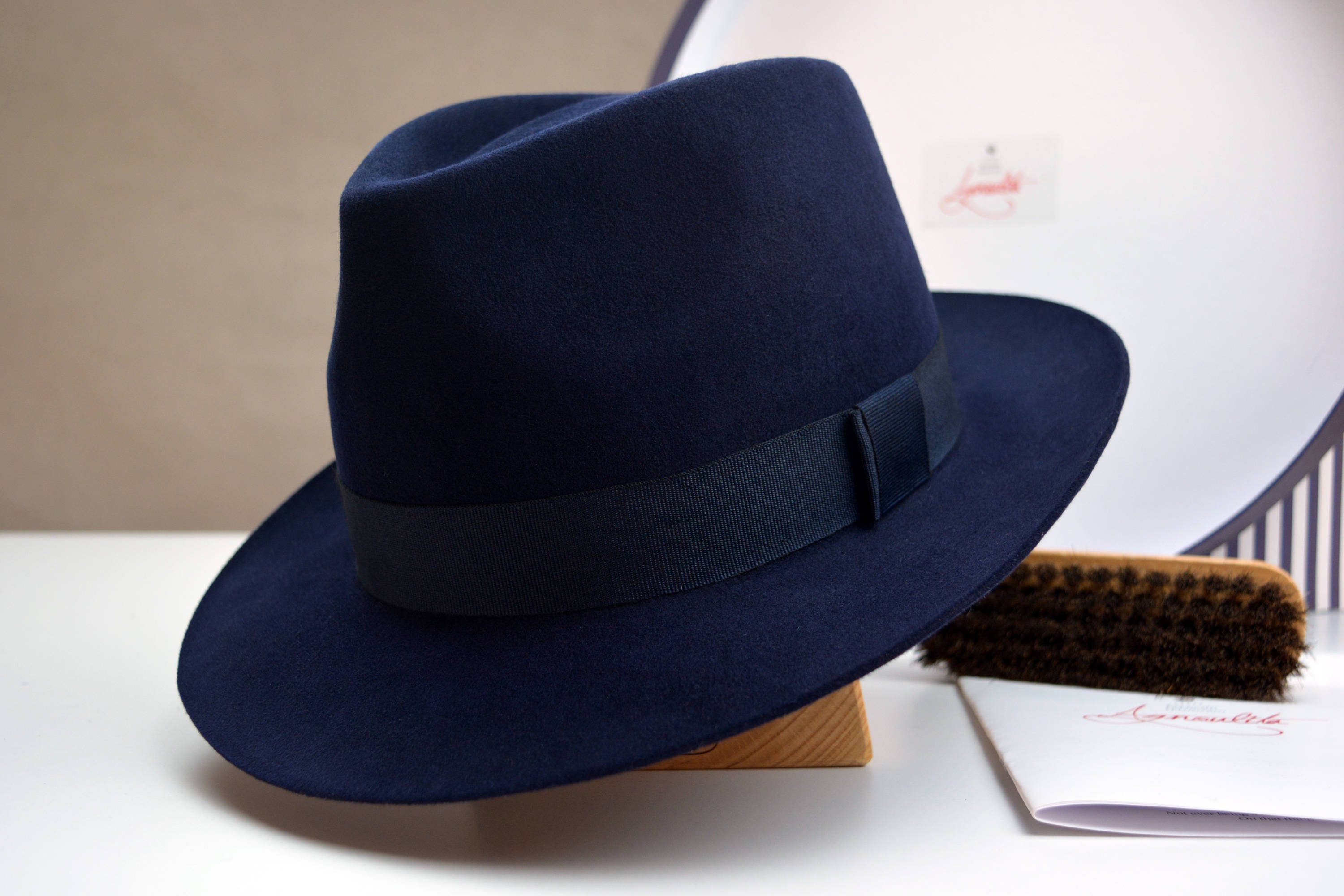 7a7675c94a4d1 Fedora The DOYEN Navy Blue Fedora Hat For Men Mens